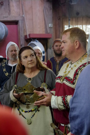 Brigit & Uther crowning